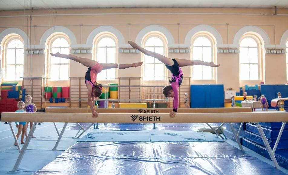 Окружные старты по спортивной гимнастике